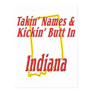 Indiana - Kickin' Butt Postcard