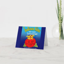 Indiana King tomatoes label Note Card