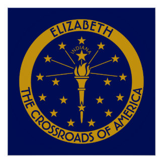Indiana la bandera personalizada estado del póster