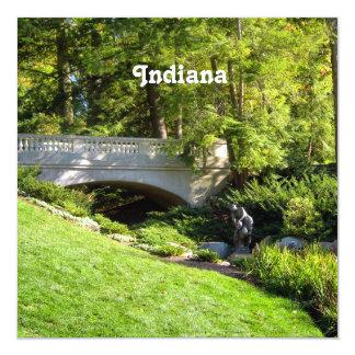 Indiana Landscape 5.25x5.25 Square Paper Invitation Card