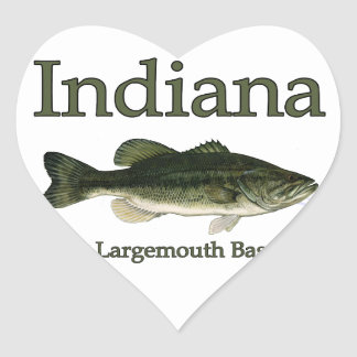 Indiana Largemouth Bass Heart Sticker