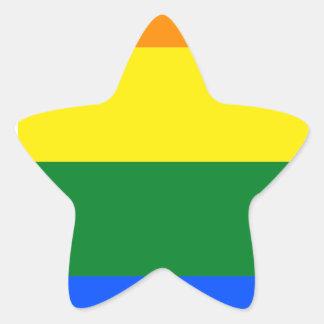 Indiana LGBT Flag Map Star Sticker