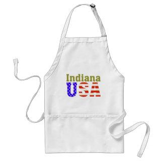 ¡Indiana los E.E.U.U.! Delantal