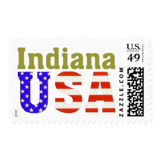 ¡Indiana los E.E.U.U.! Estampilla