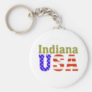 ¡Indiana los E.E.U.U.! Llavero Redondo Tipo Pin
