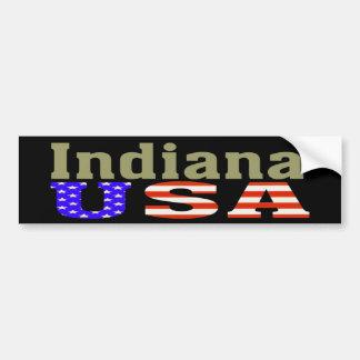 ¡Indiana los E.E.U.U.! Pegatina para el parachoque Pegatina Para Auto