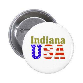 ¡Indiana los E.E.U.U.! Pin Redondo De 2 Pulgadas