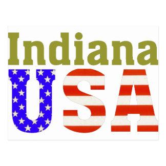 ¡Indiana los E.E.U.U.! Postal