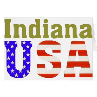 ¡Indiana los E.E.U.U.! Tarjeta De Felicitación