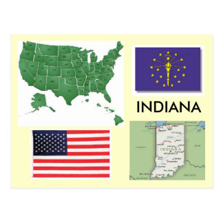 Indiana, los E.E.U.U. Tarjeta Postal