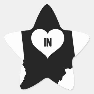 Indiana Love Star Sticker