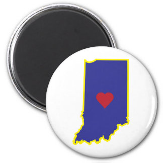 Indiana Luv 2 Inch Round Magnet