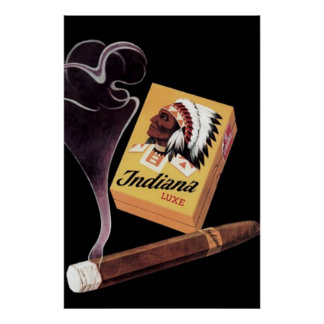 Indiana Lux Cigars ad / Poster