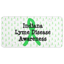Indiana Lyme Disease Awareness Front License Plate