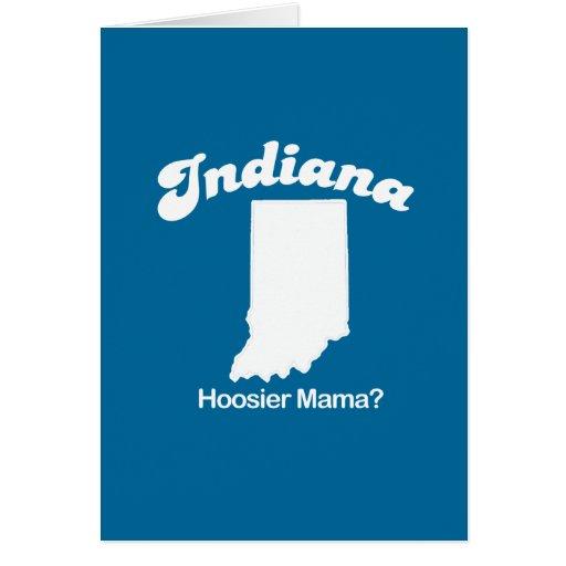 Indiana - mamá T-shirt del Hoosier Tarjeta De Felicitación