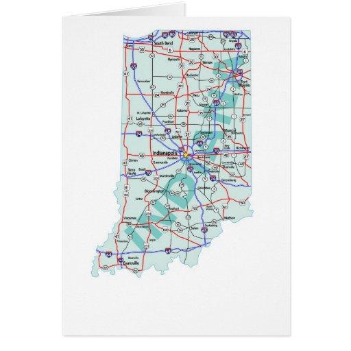 Indiana Map Blank Card  Zazzle