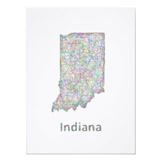Indiana map card