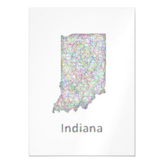 Indiana map magnetic card