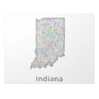 Indiana map note pad
