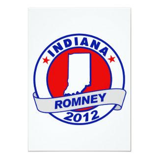 Indiana Mitt Romney 5x7 Paper Invitation Card
