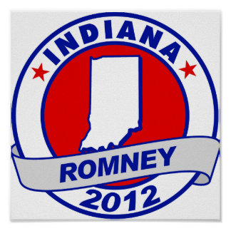 Indiana Mitt Romney Posters