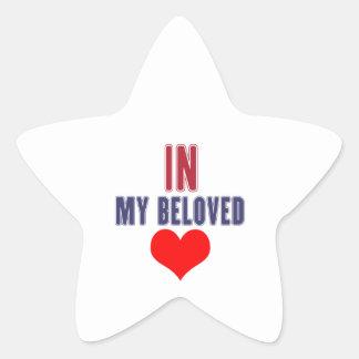 Indiana my beloved star sticker