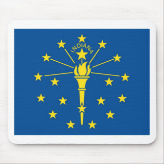 Indiana  Official State Flag Mouse Pad