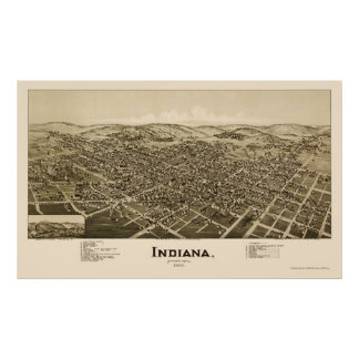 Indiana, PA Panoramic Map - 1900 Posters