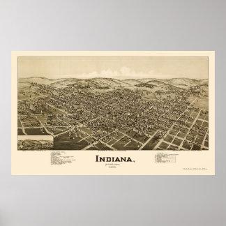 Indiana, PA Panoramic Map - 1900 Poster