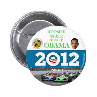 INDIANA para el botón político del pinback de Obam Pin Redondo De 2 Pulgadas