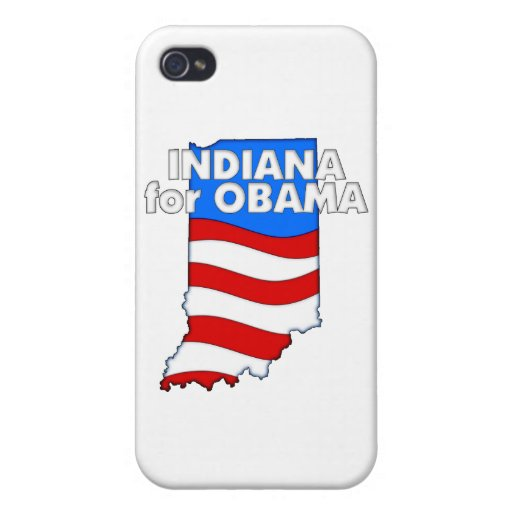 Indiana para Obama 2012 iPhone 4/4S Funda