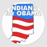Indiana para Obama 2012 Pegatina Redonda
