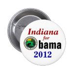 Indiana para Obama 2012 Pins