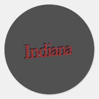 Indiana Etiqueta Redonda