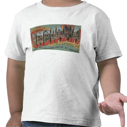 Indiana, Pennsylvania - escenas grandes de la letr Camiseta