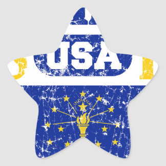 INDIANA PERFECT TOGETHER DISTRESSED PRODUCTS STAR STICKER