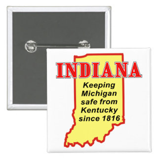 Indiana Pinback Buttons