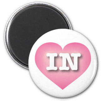 Indiana Pink Fade Heart - Big Love 2 Inch Round Magnet