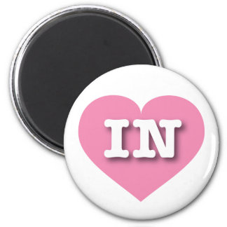 Indiana Pink Heart - Big Love 2 Inch Round Magnet