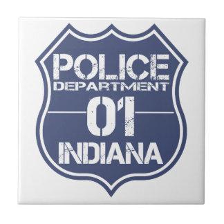 Indiana Police Department Shield 01 Ceramic Tile