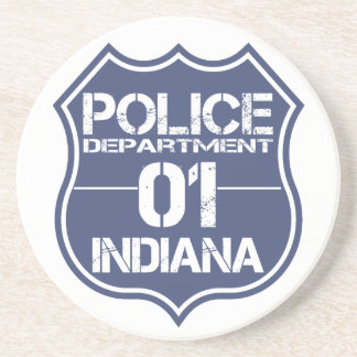 Indiana Police Department Shield 01 Coaster
