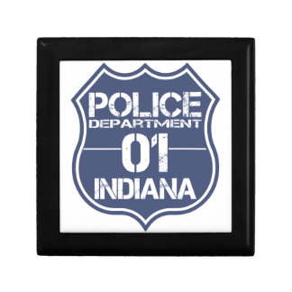 Indiana Police Department Shield 01 Jewelry Boxes