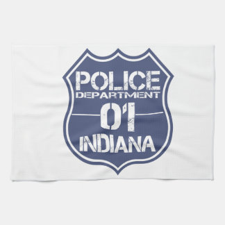 Indiana Police Department Shield 01 Kitchen Towels