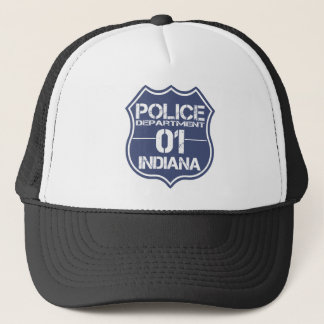 Indiana Police Department Shield 01 Trucker Hat