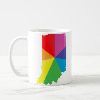 indiana pride. angled. coffee mug