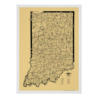 Indiana Railroad Map 1897 Posters