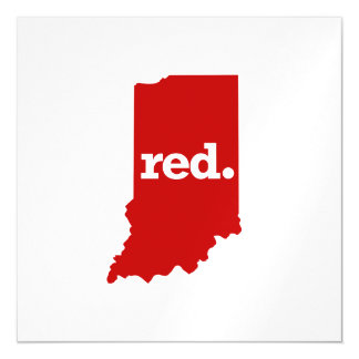 INDIANA RED STATE MAGNETIC CARD