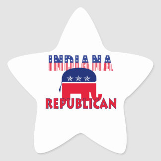 Indiana Republican Star Stickers