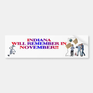 Indiana - Return Congress To The People!! Bumper Stickers