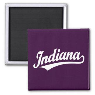 Indiana script logo in white magnet